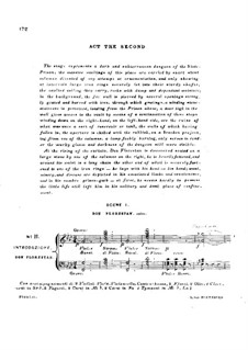 Fragments: Act II, piano score with vocal parts by Ludwig van Beethoven
