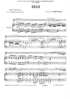 Solo in F Major for French Horn and Piano: Score by Victorin Joncieres