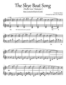 The Skye Boat Song: For piano by folklore