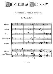 Florilegium Secundum: Movement I, No.1-7 by Georg Muffat