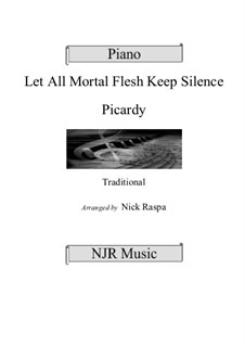 Let All Mortal Flesh Keep Silence: For piano (adv int) by folklore