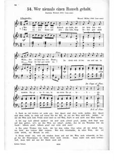 Wer niemals einen Rausch gehabt: Klavierauszug mit Singstimmen by Wenzel Müller