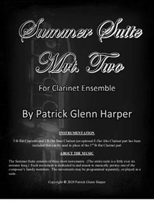 Summer Suite for Clarinet Ensemble: Movement 2 by Patrick Glenn Harper