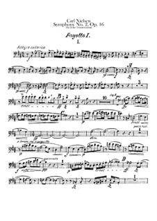 Symphony No.2 'The Four Temperaments', FS 29 Op.16: Bassoons I-II parts by Carl Nielsen