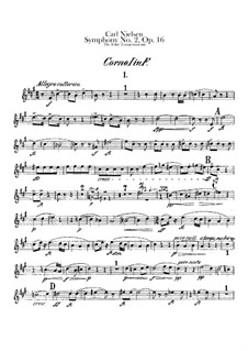 Symphony No.2 'The Four Temperaments', FS 29 Op.16: French horns I-II parts by Carl Nielsen
