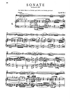 Sonata for Cello and Piano No.4 in C Major, Op.102 No.1: Score by Ludwig van Beethoven