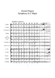 Symphony in C Major, WWV 29: Full score by Richard Wagner