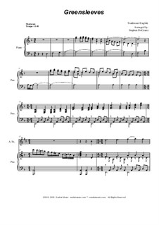Greensleeves: For Alto Saxophone and Piano by folklore