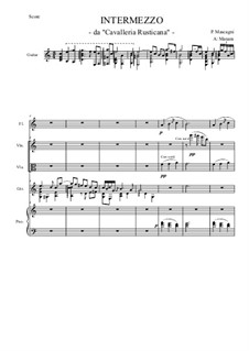 Cavaleria rusticana: Intermezzo, for quintet by Pietro Mascagni