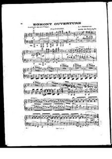 Egmont, Op.84: Piano score by Ludwig van Beethoven