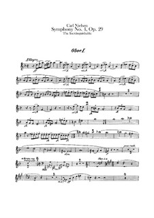 Symphony No.4 'The Inextinguishable', FS 76 Op.29: Oboes I-III parts by Carl Nielsen