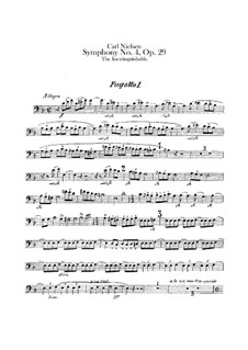Symphony No.4 'The Inextinguishable', FS 76 Op.29: Bassoons I-III parts by Carl Nielsen
