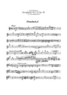 Symphony No.4 'The Inextinguishable', FS 76 Op.29: Trumpets I-III parts by Carl Nielsen