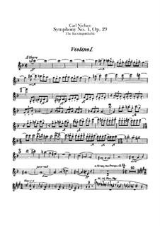 Symphony No.4 'The Inextinguishable', FS 76 Op.29: Violin I part by Carl Nielsen
