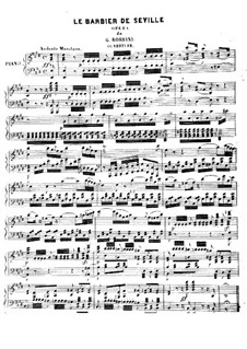 Overture: For piano by Gioacchino Rossini