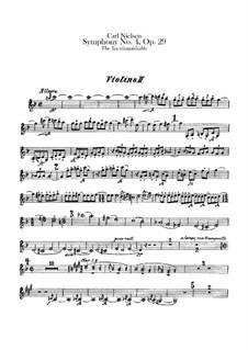 Symphony No.4 'The Inextinguishable', FS 76 Op.29: Violin II part by Carl Nielsen