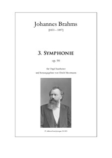 Complete set: Version for organ by Johannes Brahms