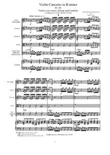 Concerto for Violin and Strings in B Minor, RV 386: Score, parts by Antonio Vivaldi