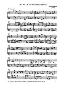 Duo Nr.2, C-Dur, für Violine und Viola: Duo Nr.2, C-Dur, für Violine und Viola by Thomas Bäurle