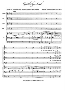 Spiritual Song, Op.30: For choir and organ by Johannes Brahms