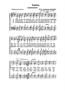 Comitat (Schulschlufs): Comitat (Schulschlufs) by Felix Mendelssohn-Bartholdy