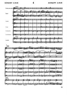 Brandenburg Concerto No.4 in G Major, BWV 1049: Full score by Johann Sebastian Bach