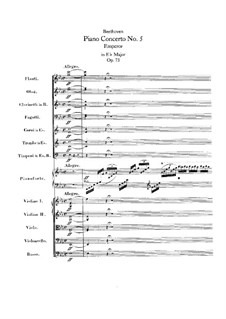 Complete Concerto: Full score by Ludwig van Beethoven