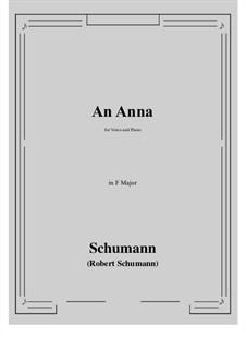 An Anna: F Major by Robert Schumann