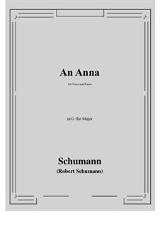 An Anna: G flat Major by Robert Schumann
