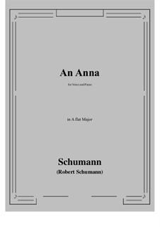 An Anna: A flat Major by Robert Schumann