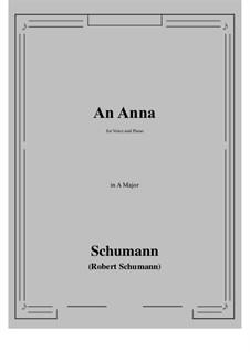 An Anna: A Major by Robert Schumann