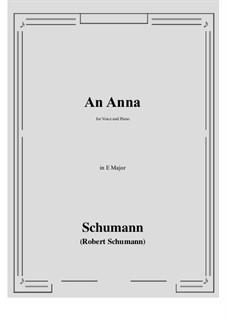 An Anna: E Major by Robert Schumann