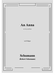 An Anna: D Major by Robert Schumann