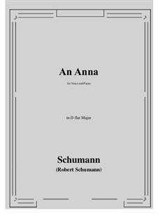 An Anna: D flat Major by Robert Schumann
