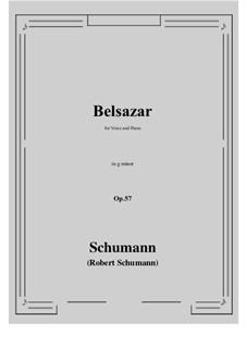 Belsazar, Op.57: G minor by Robert Schumann