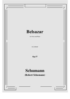 Belsazar, Op.57: A minor by Robert Schumann