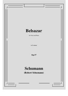 Belsazar, Op.57: B minor by Robert Schumann