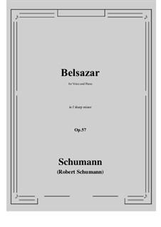 Belsazar, Op.57: F sharp minor by Robert Schumann