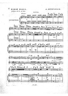 Barbe-bleue (Bluebeard): Flutes part by Jacques Offenbach