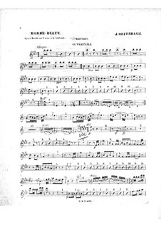 Barbe-bleue (Bluebeard): Oboe part by Jacques Offenbach
