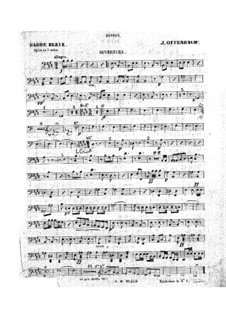 Barbe-bleue (Bluebeard): Bassoon part by Jacques Offenbach