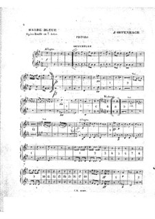 Barbe-bleue (Bluebeard): Cornets part by Jacques Offenbach