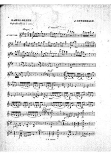 Barbe-bleue (Bluebeard): Violins I part by Jacques Offenbach
