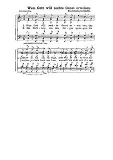 Four Songs for Male Choir 'Wandersmann', Op.75: Nr.1 Der frohe Wandersmann (Wem Gott will rechte Gunst erweisen) by Felix Mendelssohn-Bartholdy