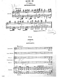 Barbe-bleue (Bluebeard): Act II, for voices and piano by Jacques Offenbach