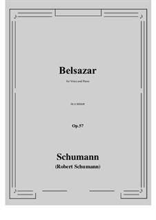 Belsazar, Op.57: E minor by Robert Schumann