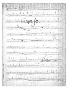 Croquefer: Flutes part by Jacques Offenbach
