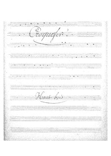 Croquefer: Oboe part by Jacques Offenbach