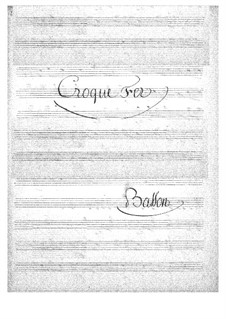 Croquefer: Bassoon part by Jacques Offenbach
