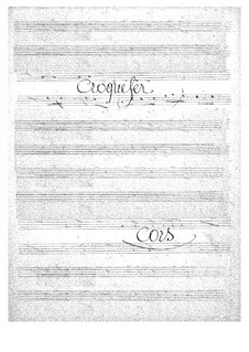 Croquefer: Horns part by Jacques Offenbach